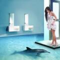 Декоративные наливные полы 3d с изображением воды в Саратове