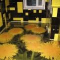 Декоративные наливные полы 3d с цветами в Саратове