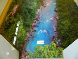 Декоративные наливные 3D полы с изображением ручья