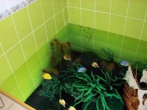 Декоративные наливные 3D полы с изображением водорослей